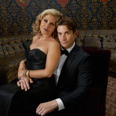 Orfeh and Andy Karl in the TodayTix Tony Awards photo lounge at the O&M after-party at The Carlyle. Photo by Amy Arbus.