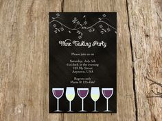 A personal favorite from my Etsy shop https://www.etsy.com/listing/192252344/wine-tasting-party-bridal-shower