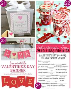 Take a look at these 28 Valentine's Day FREEBIES including Fortunate to Be Your Friends, Valentine's Day Candy Jar Printables, Valentine's Day Banner, Valentine's Mad Libs, and more on Frugal Coupon Living.