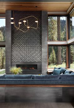 Mountain modular home has sophisticated design with a sense of playfulness in the aesthetic - CAANdesign | Architecture and home design blog