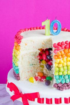 A Naked Cake in honor of all the September Birthdays Looks DELISH