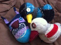 Sock Birds  Happy National Bird Day!