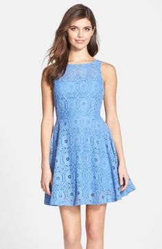 e964feed7d Free shipping and returns on BB Dakota  Renley  Lace Fit  amp  Flare Dress