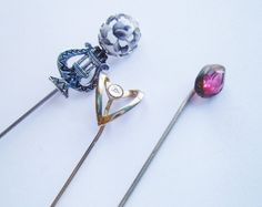 Collectible Hat Pins | Vintage Hat Pins: Stick Pin Collection of 3