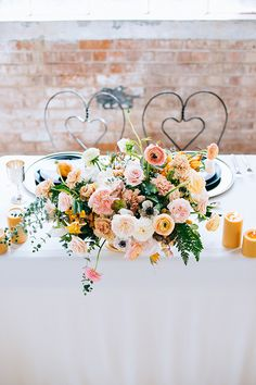 Elegant wedding sweetheart table idea - romantic wedding sweetheart table decorated with blush and peach centerpiece of garden roses and ranunculus {Anna Perevertaylo Photography} Small Intimate Wedding, Intimate Weddings, Elegant Wedding, Floral Wedding, Fall Wedding, Butterfly Wedding, October Wedding, Wedding Flowers, Ranunculus Centerpiece