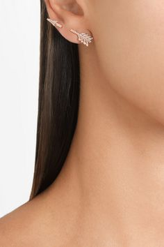 Anita Ko arrow 18-karat rose gold diamond earring