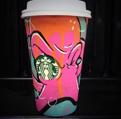 Starbucks Unveils The White Cup Contest Winning Design (and a look at some other submissions). Starbucks Cup Art, Starbucks Siren, Coffee Cup Art, Hot Coffee, School Art Projects, Diy Projects, White Cups, Design Competitions, Cup Design