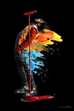 Kid Cudi, one of my favorite rock stars in rap...