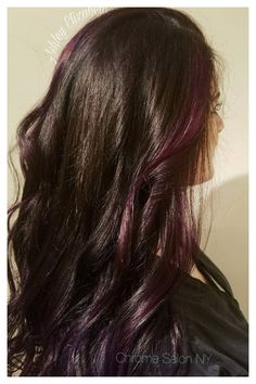 Gorgeous Grape inspiration: hair color/s and style by Ashley Hill for Chrome Salon NY.