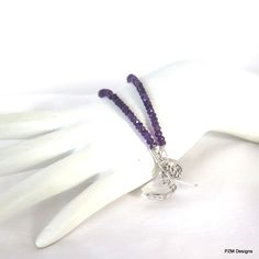 Amethyst Double Strand Bracelet, Gift for Her