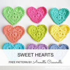 Free pattern - http://myrosevalley.blogspot.ch/2013/04/sweet-heart-crochet-pattern.html