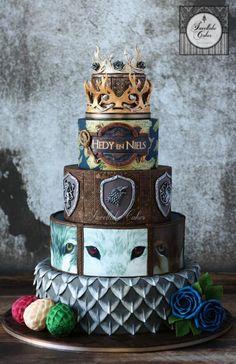 Game of Thrones inspired wedding cake by Tamara - http://cakesdecor.com/cakes/280910-game-of-thrones-inspired-wedding-cake