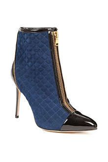 Brian Atwood Astrid quilted-suede ankle boots