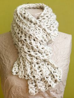 Free Crochet Pattern: Breezy Scarf.  great to make into a cowl or infinity scarf