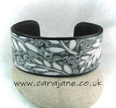 Polymer Clay Narrow Cuff bracelet by Cara Jane   Flickr - Photo Sharing!