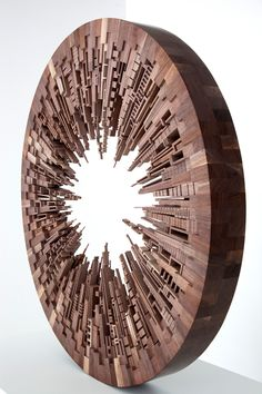 Wooden Cityscapes Carved by James McNabb