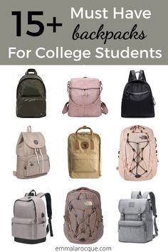 33 of the most trendy and cute school backpacks out there! These backpacks are great for college students, high school students, and teens in general. Super aesthetic backpacks for women and for travel. These backpacks come in all of the color and size options that you could dream of. Click to see them all! #school #backpack #college College Student Humor, Girl College Dorms, College Life Hacks, College Fun, College Students, College Tips, Cute Backpacks For College, Trendy Backpacks, Girl Backpacks