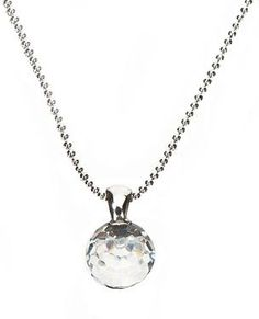 Crystal Golf Ball Necklace. Golf accessories for women! #navika