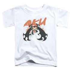 SAMURAI JACK/AKU SPLATTER-S/S TODDLER TEE-WHITE-LG(4T)  AKU SPLATTER | Cartoon T-Shirts | Mopixiestore.com