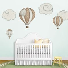 Hot Air Ballons and Cloud Wall Stickers - Decals