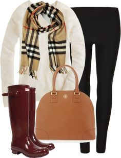 I adore this. I'd probably go with a riding boot over the rain boot though. Cute either way.