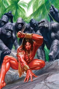 Tarzan Lord of the Jungle #1 Cover - Alex Ross  Comic Art
