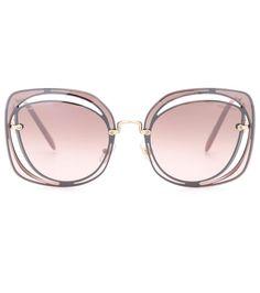 MIU MIU Cut-Out Sunglasses. #miumiu #sunglasses