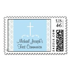 First Communion  Christening or Baptism Postage Stamps