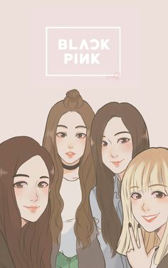 I'm back again with another BlackPink fanart! So I just joined this contest on BlackPink Amino (I highly recommend BLINK to join this com. Fan Art, Anime Friendship, Black Pink Kpop, Bff Drawings, Blackpink Photos, Dibujos Cute, Jennie Blackpink, Blackpink Jisoo, Kpop Fanart
