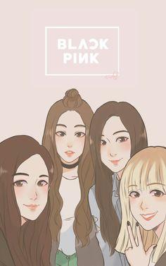 34 Best Black Pink Cartoon Images Blackpink Jennie Drawings Fan Art