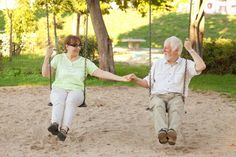 Playgrounds for senior citizens enable the elderly to exercise
