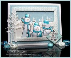 Snowman Trio, FS391 by justwritedesigns - Cards and Paper Crafts at Splitcoaststampers