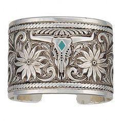Montana Silversmiths Western Silver Women's Cowgirl Cuff Bracelet Jewelry