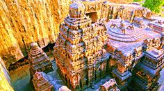 This is the Kailasa temple in Ellora. Is it humanly possible to construct a temple like this? Could this mysterious structure have been built by Aliens??