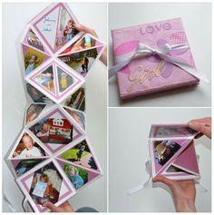 Pin by Lazy Hummingbird on Projekte und Geschenkideen Diy Paper, Paper Crafts, Birthday Cards, Birthday Gifts, Mini Albums Scrapbook, Pop Up Cards, Diy Cards, Little Gifts, Diy Gifts