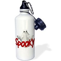 3dRose wb_131355_1 Halloween Spooky 3D Ghost Sports Water Bottle 21 oz White ** Be sure to check out this awesome product.