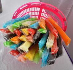 Excellent cheap idea but i doubt any guests will get any of these popsicles, i am obsessed with them and can eat 20!