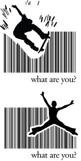Barcode silhouettes I did for Oracle Trade show in 2007