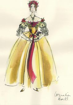"""The Young Victoria"": A sketch from costume designer Sandy Powell."