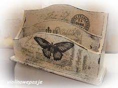 Znalezione obrazy dla zapytania decoupage taca motylkiem