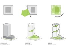 Architecture Graphics, Concept Architecture, Shenzhen, Office Space Planning, Multi Storey Building, Conceptual Sketches, Vertical City, Green Terrace, Concept Diagram