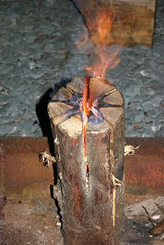 Swedish Log Candle