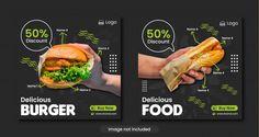 Burger Or Fast Food Menu Social Media Banner Template Food Menu Template, Banner Template, Creamy Cauliflower Sauce, Buttery Shrimp, Fast Food Menu, Sweet Potato Noodles, Delicious Burgers, Healthy Comfort Food, Visual Identity