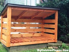 Backyard-wood-shed Wood Shed Kits, Wood Shed Plans, Barn Plans, Diy Storage Shed Plans, Wood Storage Sheds, Storage Ideas, Small Wood Shed, Building A Wood Shed, Building With Pallets