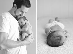 baby and dad. nice change to have the parents in white and not black, also love the black and white on these
