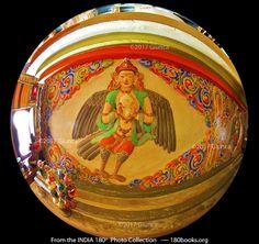 Image of Kinnara; half-man and half-bird at Rizong Monastery in Ladakh, India