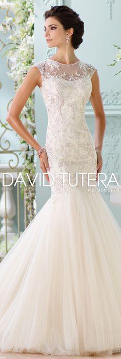 The David Tutera for Mon Cheri Spring 2016 Wedding Gown Collection - Style No. 116222 Ica  #laceweddingdresses