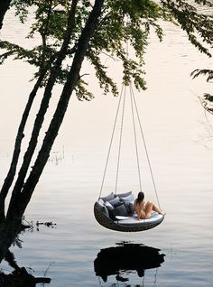 SWINGREST by Daniel Pouzet. The ultimate hanging lounger, SWINGREST is one of the first products to emerge from Dedon Island resort, the company's Outdoor Living Lab in Siargao, Philippines