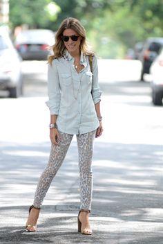 Camisa jeans e animal print @ Nati Vozza