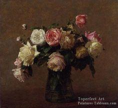 2 Bouquet of Roses Fleur pentres Henri Fantin Latour